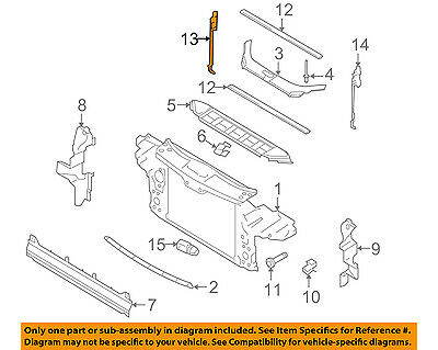 AUDI OEM 07 15 Q7 Radiator Core Support Side Seal audi oem 07 15 q7 radiator core support side seal filler panel right