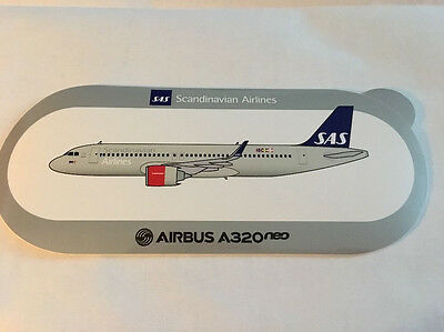 New Airbus Sticker Scandinavian Airlines AIRBUS A320neo, 10-2016