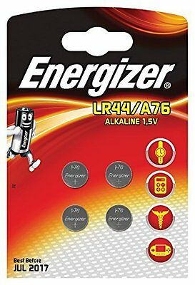 4x Energizer LR44 / A76 1.5v Alkaline Coin Batteries For Watches Calculator Toys