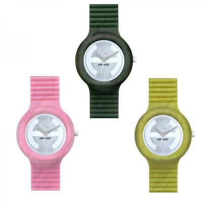 Orologio HIP HOP MELANGE Small 32mm Silicone Tessuto Rosa Verde Acido Unisex