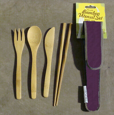 To Go Ware RePEat Bamboo Utensil Set - Mulberry