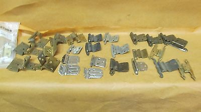 Lot of Assorted  Vintage Metal Offset  Cabinet Hinges