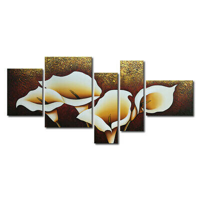 Framed Original Abstract Oil Painting on Canvas Home Decor Wall Art Calla Flower