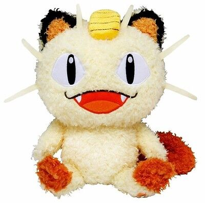 SALE! Sekiguchi Pokemon Moko Moko Fluffy Pokemon Go Plus Stuffed Plush - Meowth