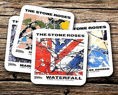 The Stone Roses Singles Artwork Coasters For Drinks/Mugs/Cups Ian Brown Set Of 4