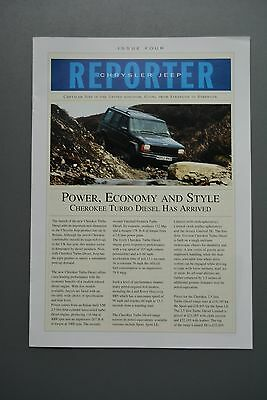 Car Brochure/Report Chysler Jeep Cherokee Issue Four