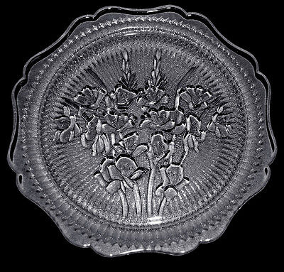 Jeannette Iris Crystal Vintage Hard to Find Luncheon / Salad  Plate