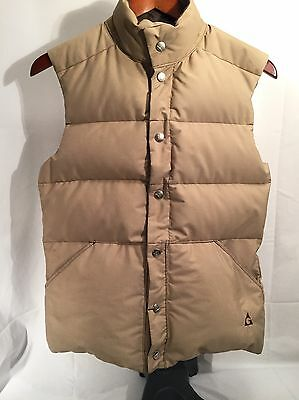 Vintage Gerry Reversible Tan/Brown Puffer Vest Made in USA Men's XS Women's S