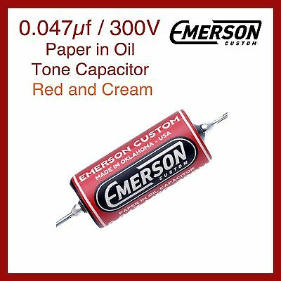 Emerson Custom 0.047µf / 300V Paper in Oil Tone Capacitor - Red and Cream