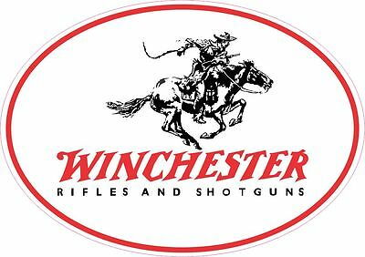 Winchester Logo Vinyl Gun Sticker Decal OVAL