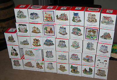Lot of 36, LIBERTY FALLS MINIATURE VILLAGE BUILDING Collectables, No Doubles