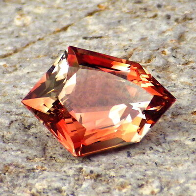 RED ORANGE OREGON SUNSTONE 3.20Ct FLAWLESS-FOR BEAUTIFUL  JEWELRY/INVESTMENT