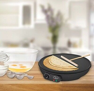 "1000W Electric 12"" Inch Pancake Crepe Maker Non Stick Plate + Free Accessories"