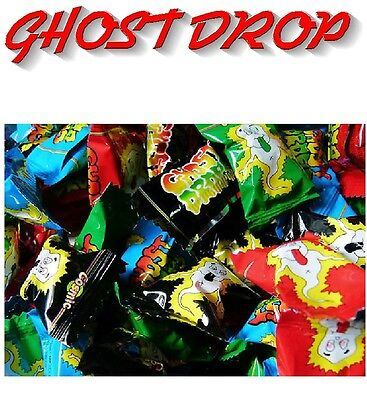Bulk Lollies 100 x Ghost Drops Confectionery Halloween Sweets Wrapped Candy