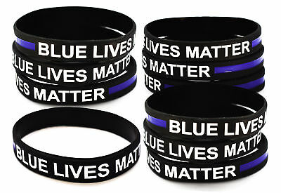 Thin Blue Line Bracelet BLUE LIVES MATTER Police Support Wristband