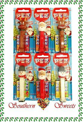 Pez Lollies Winter Stars Xmas Christmas Lollies  6 Pack Snowman Reindeer Santa