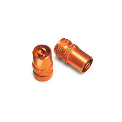 KTM Genuine Anodized Valve Caps with Built In Valve Tool Powerparts 777109760500