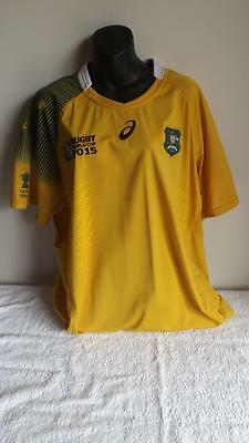 Wallabies 2015 World Cup Asic Jersey In Like New Condition Xxxl