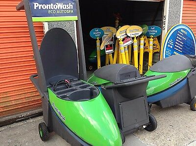 Closed Prontowash Mobile Car Wash Equipment Business with Carts and Signage