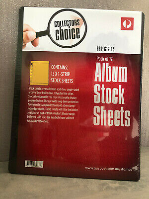 New Australia Post Collectors Choice 12 Pack 7 Hole 1 Strip Stock Album Sheets