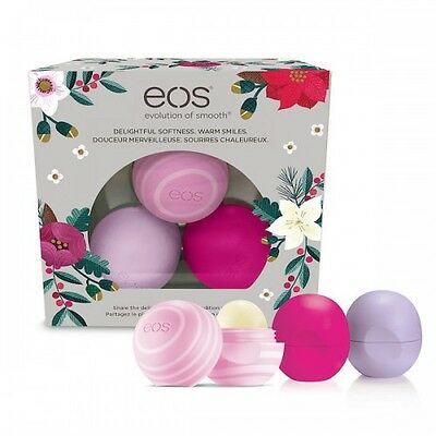 eos Lip Balm Smooth Sphere Limited Edition 2016 Holiday Collection 3 sphere pack