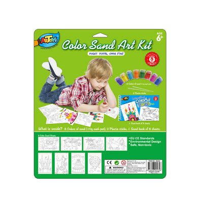 Colour Sand Art Kit Sand Book 8 Colour Sand Great DIY Sand Art Picture for Kids