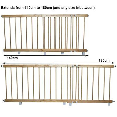 NEW Sunbury - Wooden Barrier - Large 140cm - 180cm from Baby Barn Discounts