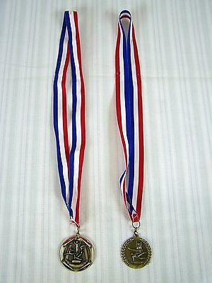 Gymnastics Medals Set Of 2 On Lanyards Freeman Products Mic