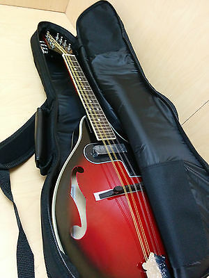 Smoky Mountain SM62E BCS A-Style Electric Mandolin Cherry-burst+10mm padded bag