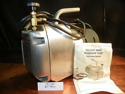 NOS Robinair Air Conditioning Service HVAC 2 Stage Hi Vac Pump 27457 Made in USA