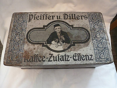 Blechdose Kaffeedose Pfeiffer u. Dillers antik shabby style vintage coffee can