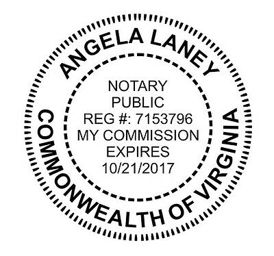 Custom Oficial Commonwealt Virginia Notary Public Round Self Inking Rubber Stamp