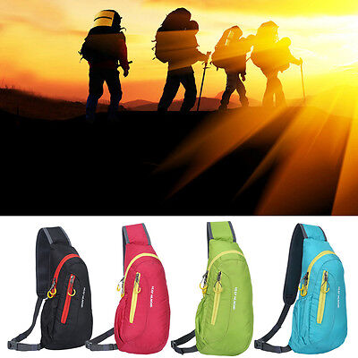 Nylon Waterproof Sports Chest Bag Shoulder Hiking Bicycle Outdoor Backpack Bag