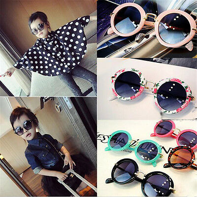 Children Retro Fashion Round Lens Shades Sunglasses Baby Costume Goggles Eyewear