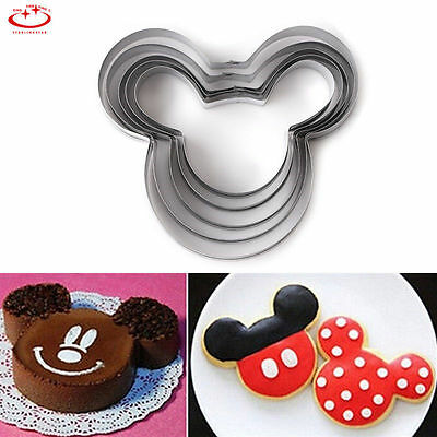 5pcs/set Mickey Mouse Biscuit Pastry Cookie Cutter Fondant Cake Decor Mold Tool