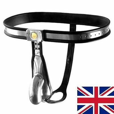 External Male Chastity Belt Device Stainless Steel adjustable, 65 - 110 cm