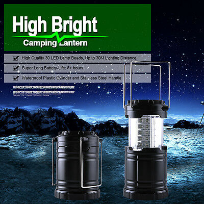 Portable 30 LED Outdoor Camping Lantern Torch Light Lamp Night Tent Waterproof