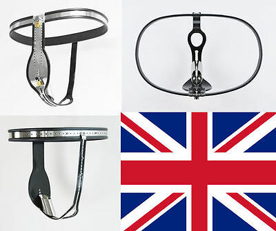 Male Chastity Belt Device with Internal Tube, stainless steel 65 - 110 cm