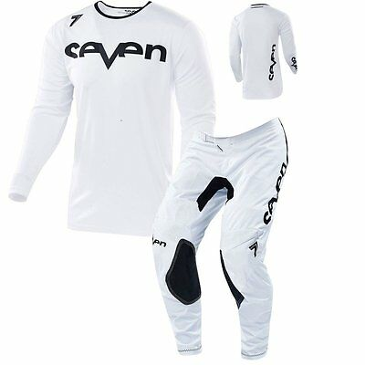 Seven Annex Staple Motocross Mx Jersey Hose Pant Combo 2017 Weiss White