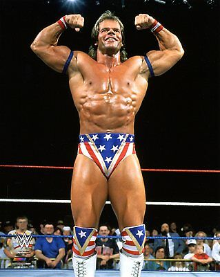 """WWE PHOTO LEX LUGER WRESTLING OFFICIAL 8x10"""" PROMO IN RING POSING"""