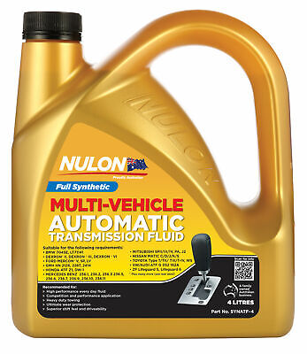 Nulon Synthetic Automatic Transmission Fluid 4L SYNATF-4