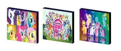 MY LITTLE PONY set b CANVAS ART BLOCKS/ WALL ART PLAQUES/PICTURES