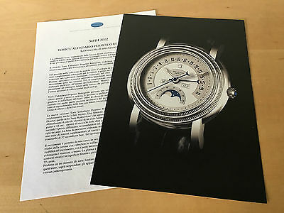 Press Kit PARMIGIANI Toric Calendario Perpetuo Retrogrado - Picture and Details