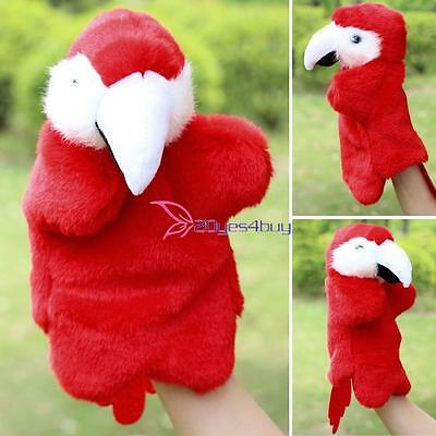 Funny Parrot Plush Cloth Hand Puppetl Baby Educational Hand Animal Toy Xmas Gift