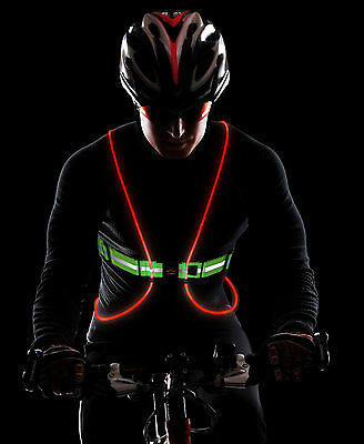 Tracer 360 - Illuminated Reflective Vest for Running/Cycling, Multicoloured LEDs