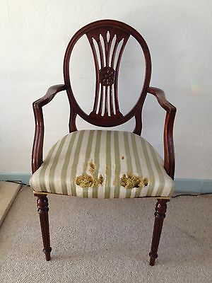 Reproduction Carver Dining Chair, Reprodux Brand. In need of restoration.