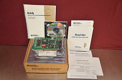 National Instruments PC-LPM-16 I/O Board w/ NI-DAQ Driver Software & Manuals NIB