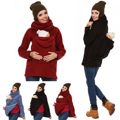 2016 New Babay Carrier Jacket Casual Autumn Winter Hood Zipper Coat Baby Wearing