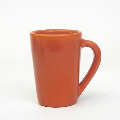 Catalina Island Pottery Toyon Red Orange on White Clay Handled Mug