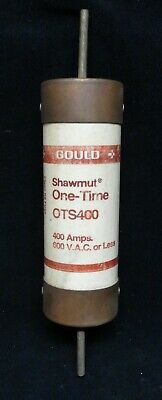 Gould * Shawmut * One-Time * Model Ots400 * 400 Amps * 600 V.a.c Or Less * Nos